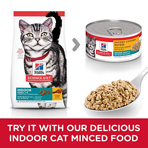 Product Image 8: Hill's Science Diet Adult Indoor Cat Food, Chicken Recipe Dry Cat Food, 15.5 Lb Bag