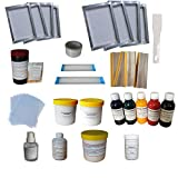 Screen Printing Simple Materials Kit Bundle Squeegee Ink Silk Screen...