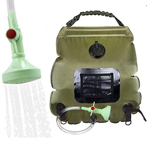 Elikliv Sac de douche 20 L, sac à eau chauffant à énergie solaire...