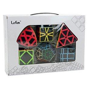 Faironly Cubo mágico de Fibra de Carbono 6 Unidades de 2 x 2 x 2 Cubos de 3 x 3 x 3 Pulgadas, 6 Unidades