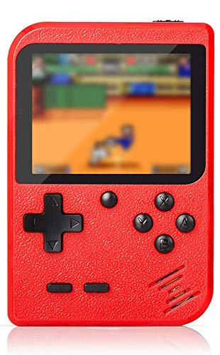 Flybiz Console di Gioco Portatile, Console retr FC, Console di Gioco Retro LCD Classico da 3,0 Pollici, 400 Giochi Retro FC Game Player Console per Videogiochi con Carica USB per Bambini Amici