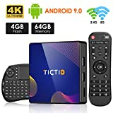 TICTID TV Box Android 9.0 avec Clavier Touchpad【4GB DDR3 + 64GB ROM】 BT 4.0...