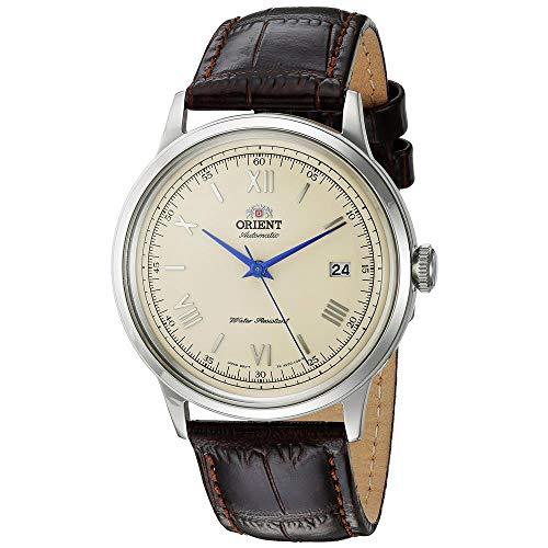 Orient Unisex Erwachsene Analog Automatik Uhr mit Leder Armband FAC00009N0