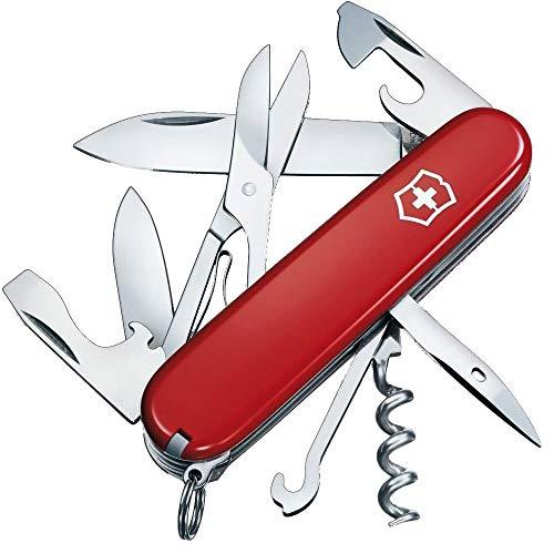 Victorinox 1.3703 Taschenmesser Climber (14 Funktionen, grosse Klinge, Korkenzieher, Dosenöffner, Schere, Kapselheber) 91mm, Rot
