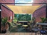 DIIG Patio Sun Shade Sail Canopy, 16' x 20' Rectangle Shade Cloth UV Block Sunshade Fabric - Outdoor Cover Awning Shelter for Pergola Backyard Garden Yard (Sand Color)
