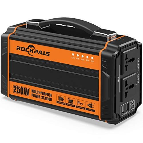 Rockpals 250-Watt Portable Generator Rechargeable Lithium Battery...