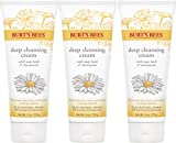 Burt's Bees Soap Bark and Chamomile Deep Cleansing Cream, 6 Oz (Pack of 3) (Package May Vary)