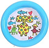 TEFIRE bébés Piscines pataugeoire Enfants Piscine Hors Sol Gonflable Petite pour Douche 65 x 16 cm pour Enfants.