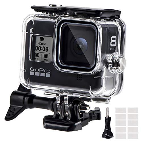 REDTRON Custodia Protettiva Impermeabile per GoPro Hero 8, 60m Custodia Subacque Accessori Include Supporti, Viti e 12 Inserti Antiappannamento per GoPro Hero 8 Black Fotocamera Digitale 2019