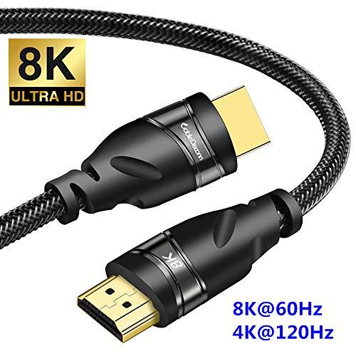 CableDeconn HDMI 8K銅線コード8K UHD HDR 48Gbps 8K @ 60Hz 4K @ 120Hz HDCP 3Dケーブル(ラップトップ用)PS4セットトップボックスHDTVプロジェクター 0.5m