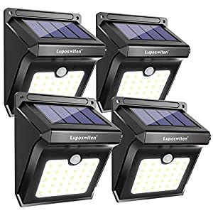 【400lm Brightness & 120 Degree Lighting Range】 Luposwiten solar light has 28 powerful LEDs which produces 400 lumens illumination. More lumens means much brighter light it is. Say goodbye to darkness in the evening and costly electricity bills. 【5000...