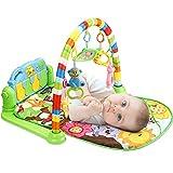 Tapis de jeux et d'éveil pour Bébé, 3 en 1 bébé Piano jouer Gym tapis la musique et lumières Cadeau pour Les Nouveau-nés âgés de 0 à 36 M