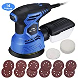 Holife Ponceuse Rotative 360°, Ponceuse Excentrique 7 Vitesse Variable 12...