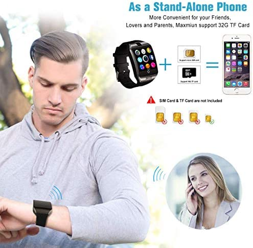 Mahipey Smart Watch,Smartwatch for Android Phones,Smart Watches Touchscreen with Camera Bluetooth Watch Cell Phone with Sim Card Slot Compatible Samsung Ios Phone 12 12 Pro 11 10 Men Women 12