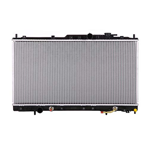Lynol Cooling System Complete Aluminum Radiator Direct Replacement Compatible With 1999-2002 Mitsubishi Galant ES GTZ LS V6 3.0L