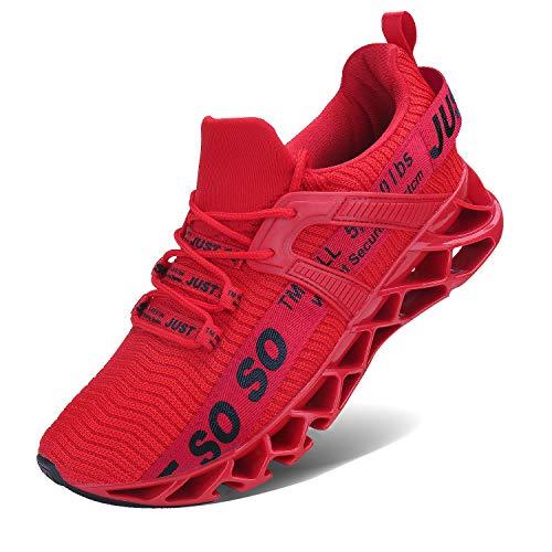 Vivay Damen Laufschuhe Walking Athletic für Frauen Casual Slip Fashion Sports Outdoor-Schuhe, Rot , 40 EU