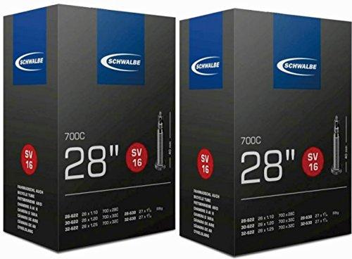 2本セット SCHWALBE(シュワルベ) 700×28/32C用チューブ 仏式バルブ 16SV 【並行輸入品】