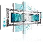 murando - Cuadro en Lienzo 100x50 cm Abstracto Impresión de 5 Piezas Material Tejido no Tejido Impresión Artística Imagen Gráfica Decoracion de Pared Arte a-A-0003-b-o