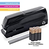 LD Products Professional, Home & Office Automatic Electric Stapler - Staples, Batteries & Wall Power Supply Included, Jam-Free 25 Sheet Capacity, Quiet, Adjustable, Cordless