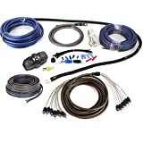 NVX XKIT46 Professional Grade 100% Copper True Spec 4 Gauge Amp Installation Kit for 5- or 6-Channel Amps, Includes RCA Interconnects & 60 ft Speaker Cable