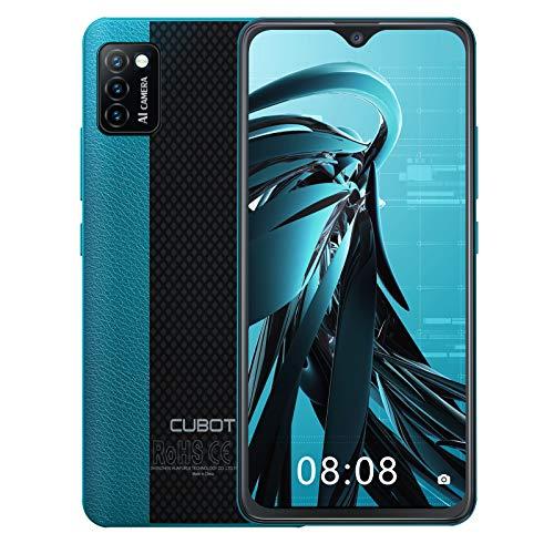 CUBOT Note 7 Smartphone 4G, Teléfono Móvil de 5,5″ Pantalla HD +, Android 10.0, Tripe Cámaras, 16GB ROM(128GB Ampliable SD Dual SIM, 3100 mAh, Face ID, Verde