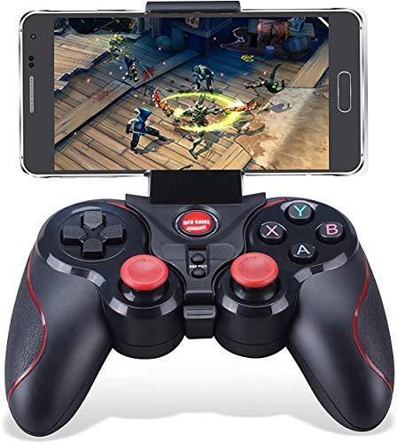 Maegoo Mando Windows PC, PS3 Mando 2.4G Bluetooth Game Controller Gamepad Joystick Inalámbrico con Soporte de Teléfono para Android Smartphone Xiaomi Huawei Samsung PC Windows PS3 Smart TV