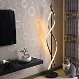 ELINKUME Lampadaire Dimmable LED Blanc Chaud Spirale Moderne Unique Design 30W...