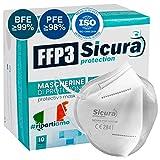 10 FFP3 Masken CE Zertifiziert - Filterklasse BFE ≥99% | PFE ≥99% - Einzeln versiegelte Maske