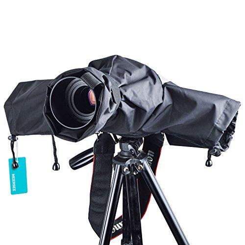 Protettore Pioggia per Fotocamera - Meersee Protettore contro Pioggia Polvere Copertura Impermeabile per Fotocamere Canon, Nikon, Sony, e altre Fotocamere DSLR