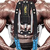 Adjustable Hydraulic Power Twister Arm Exerciser 22-440lbs Home Chest Expander Muscle Shoulder Training Fitness Equipment Arm Enhanced Exercise Strengthener Grip Bar Abdominal Builder (Blue)