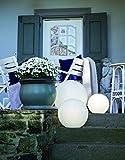8 seasons design | Deko Leuchtkugel Shining Globe (E27, Ø 50 cm groß, matt, IP44 wetterfest, Indoor & Outdoor, Kugel, Gartendekoration, Beleuchtung) weiß - 5