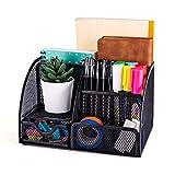 MDhand - Organizer da scrivania e accessori, in rete, con 6 scomparti + cassetto
