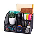 MDHAND Office Desk Organizers and Accessories, Mesh Desk Organizer with 6 Compartments + Drawer