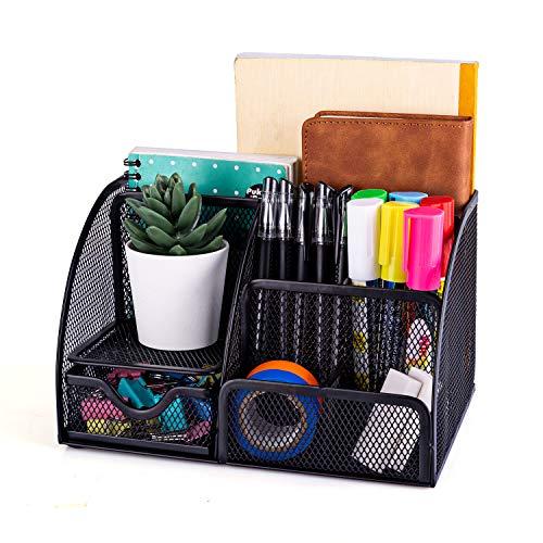 MDHAND Office Desk Organizer and Accessories, Mesh Desk Organizer with...