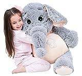 IKASA Grand Eléphant Animaux en Peluche Eléphant Géant Peluche Douce (Gris,...