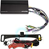 Alpine KTA-450 4-Channel Power Pack Amplifier and Voxx HD Backup Camera Upgrade Bundle for Alpine iLX-W650 Receivers (Not Included) with PowerStack Connecting Bracket. Combined Depth Under 5'