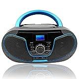 Lecteur CD Portable, LONPOO Bluetooth Lecteur CD avec Haut-Parleur HiFi...