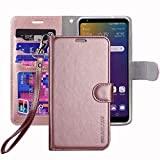 ERAGLOW LG Stylo 5 Phone Case,Stylo 5 Wallet Case, Premium PU Leather Wallet Flip Protective Phone Case Cover w/Card Slots & Kickstand for LG Stylo 5 2019(Rose Gold)