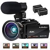 Caméscope 4K Vlogging Caméra Vidéo Ultra HD Wi-Fi Appareil Photo...