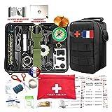 Kit de survie d'urgence 88 en 1 [ Nouveau Model 2021 ] Avec Trousse de Premiers Secours,Couteau de...