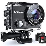 Crosstour Caméra Sport 4K, CT9000 Ultra HD Wi-FI 20MP Caméra Étanche 30M LDC 170°Grand-Angle...