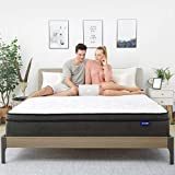 King Mattress- Sweetnight King Size Mattress in a Box,10 Inch Plush Pillow Top Spring Hybrid Mattress,Gel Memory Foam for Sleep Cool, Motion Isolating Individually Wrapped Coils,Medium-Firm Feel
