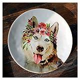 TAIYUAN Assiette Dîner Vaisselle en céramique Vaisselle Plats créatifs et des Assiettes Sets Plate Cartoon Fruits for Le Dessert Vaisselle de gâteau Petit-déjeuner Belle