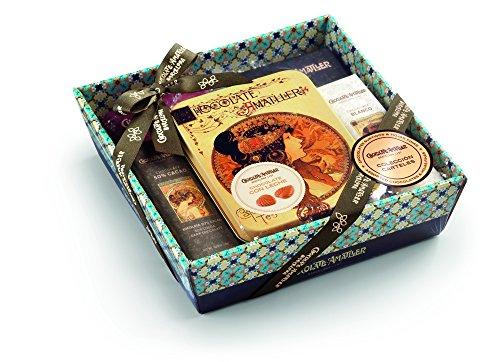 Chocolate Amatller S Variados Carteles Gr En Cesta Regalo - Regalo Original Para Los Amantes Del Cacao, Chocolate, 266 Gramo