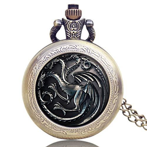 Game of Thrones US TV Series Relojes de Bolsillo para Hombres y Mujeres, Reloj de Bolsillo conmemorativo