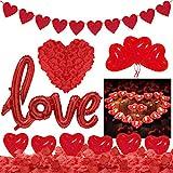 Saint-Valentin Décorations, Bougies Romantiques Pétales de Rose, 50 Bougies de...