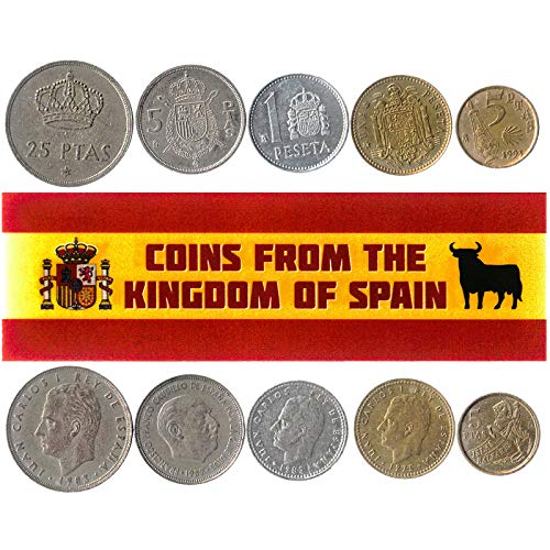 5 Monedas Diferentes - Moneda extranjera española Antigua y