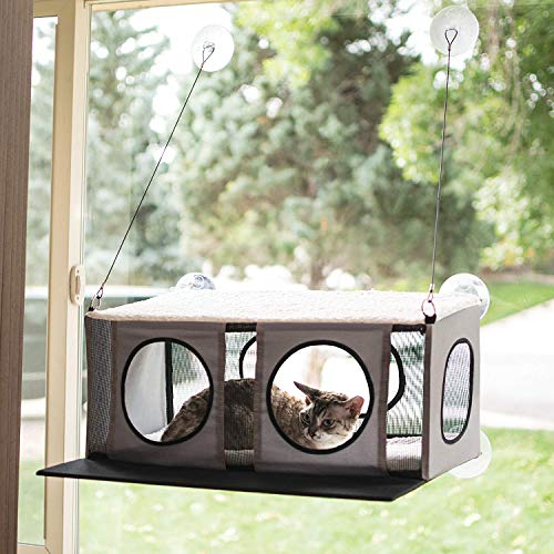 K&H Pet Products EZ Mount Penthouse Gray/Black 19' x 23' x 9.5' Kitty Sill