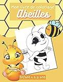 Mon livre de coloriage Abeilles enfants 4 à 8 ans: livre de jeux 40 images, abeilles,...