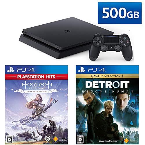 PlayStation 4 + Detroit: Become Human + Horizon Zero Dawn Complete Edition セット (ジェット・ブラッ...